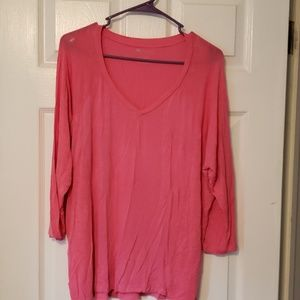 Heathered Pink 3/4 Length Top